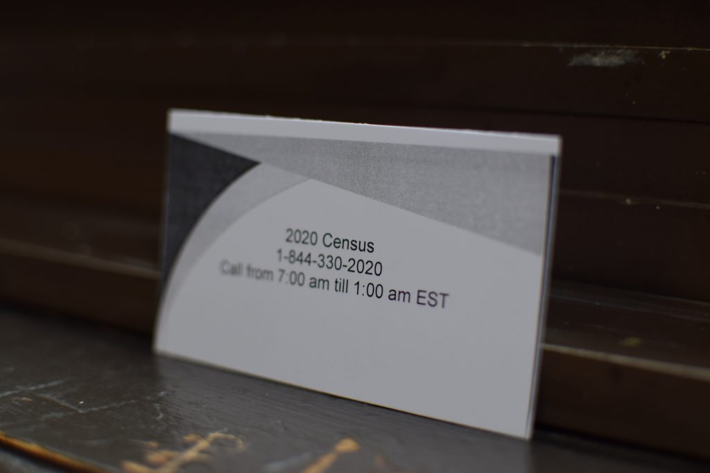 Image of the info card for the Census event.